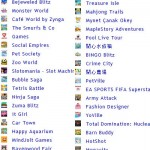 facebook games list