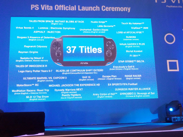 37 PlayStation Vita Launch Title @ PlayStation Vita Malaysia Launch