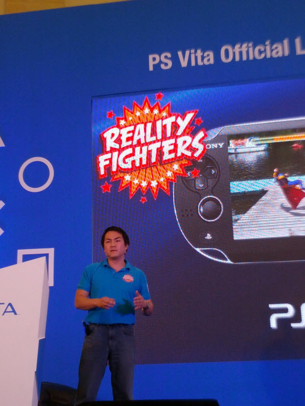 Mitsuo Hirakawa, Producer of SCE XDEV Studios in Europe Talk About Reality Fighters @ PlayStation Vita Malaysia Launch