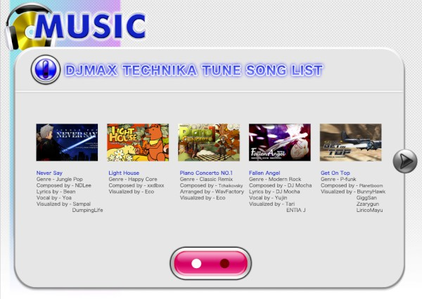 DJMax Technika Tune PS Vita Song List 2